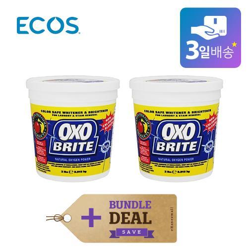 ECOS 에코스 옥소브라이트 만능세제 표백제 (0.9kg x 2개)